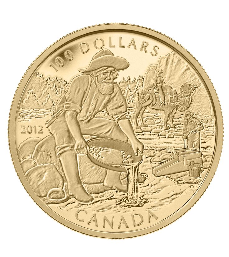 14-Karat Gold Coin - 150th Anniversary of the Cariboo Gold Rush - Mintage: 2,500 (2012)