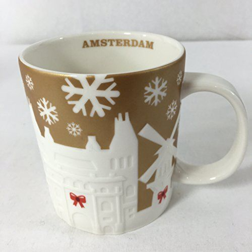 Starbucks Gold Relief Mug Amsterdam Christmas Holiday 201...