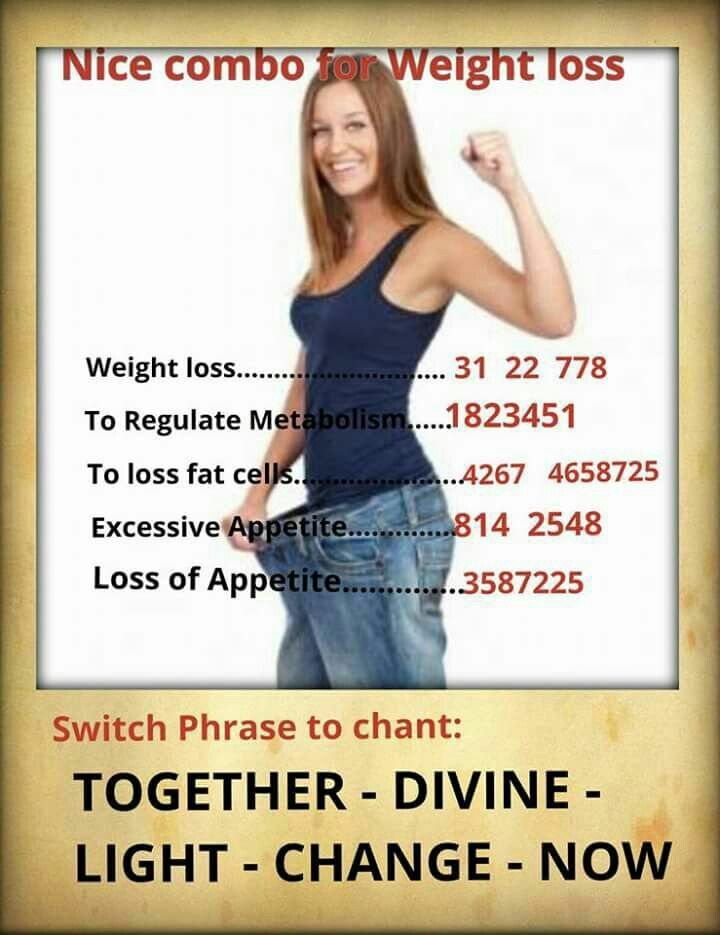 For weight loss