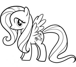 coloring pages of fluttershy | My Little Pony Coloring Pages Fluttershy