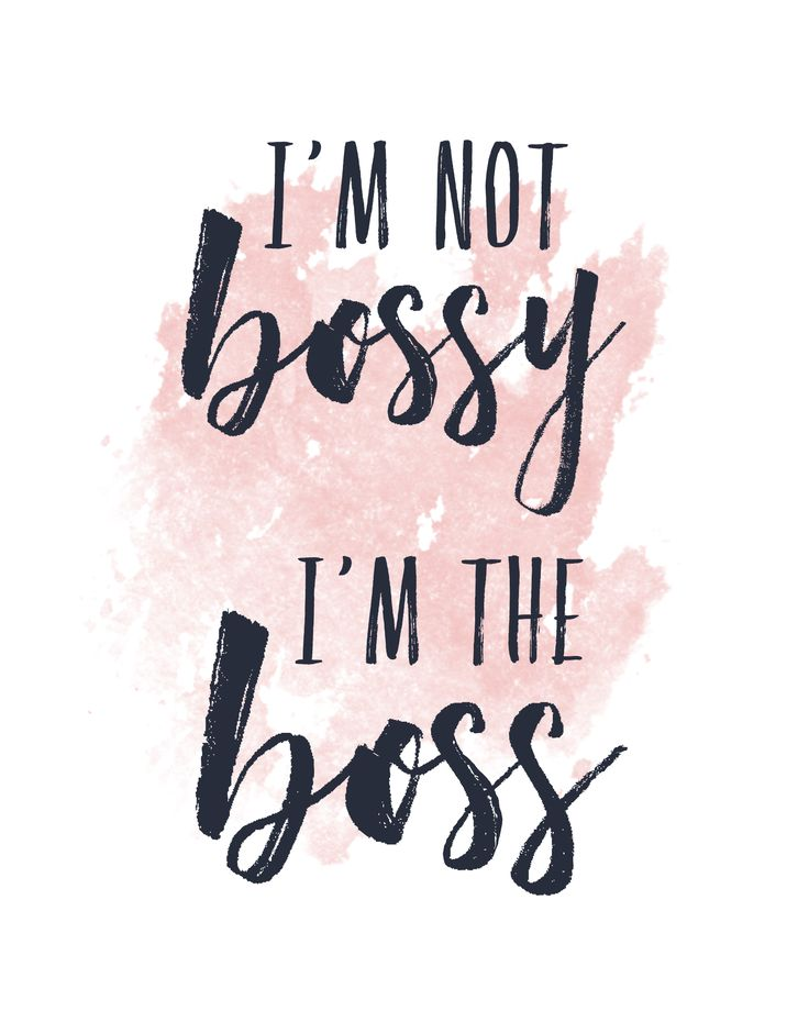 {i'm not bossy, i'm the boss}   8x10 typography quote art print & matching mug for the boss babe in your life. #boss #office #bossbabe #girlboss