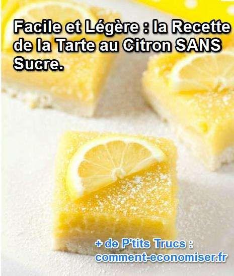 la recette légère et facile de la tarte au citron pour les diabétiques