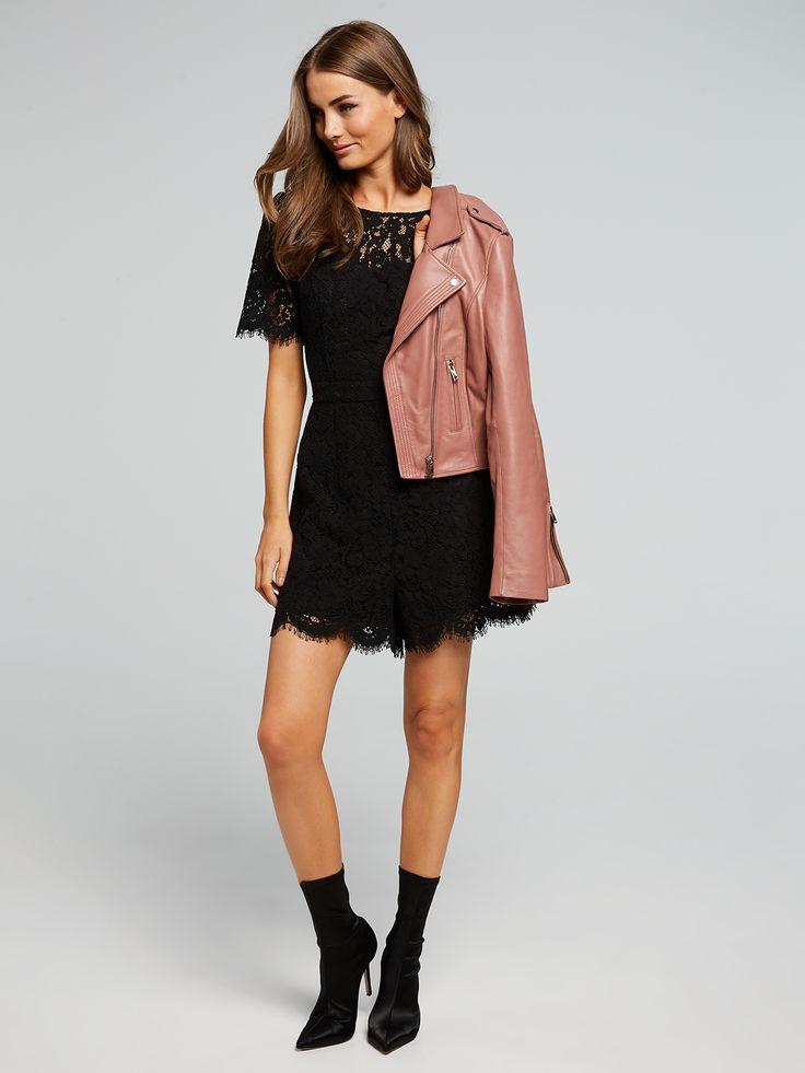 Into The Night Lace Playsuit, Portmans $129.95    http://www.shopyou.com.au/ #womensfashion #shopyoustyle