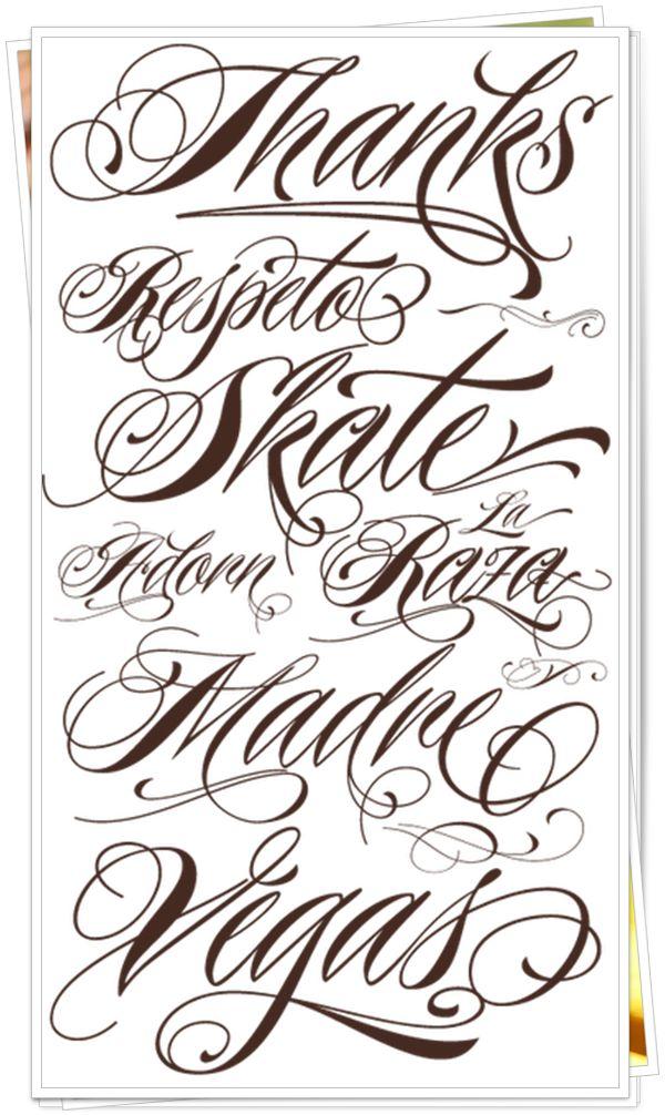 Tatuagen Fontes para tatuagem, Fontes para tatuagem
