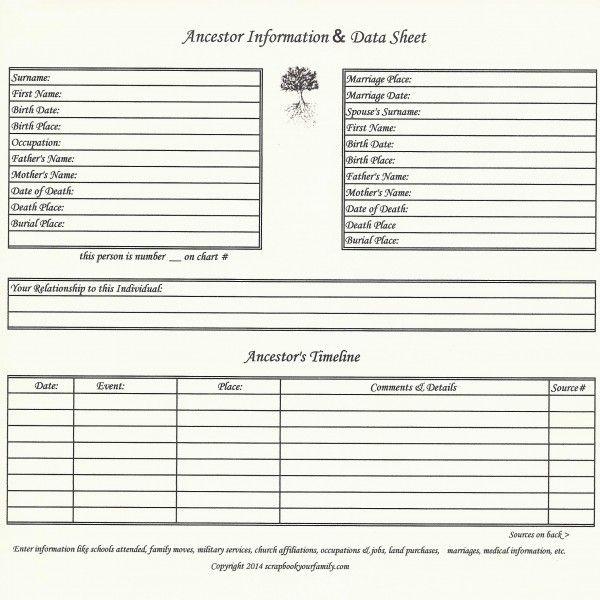 our roots 8 x 8 ancestor data timeline genealogy