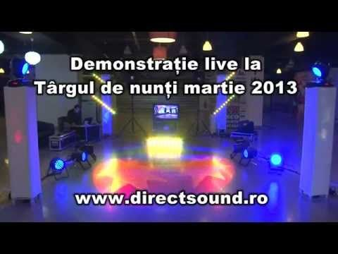 Targul de nunti BACAU-2013 - WWW.DIRECTSOUND.RO-lumini arhitecturale, gh...
