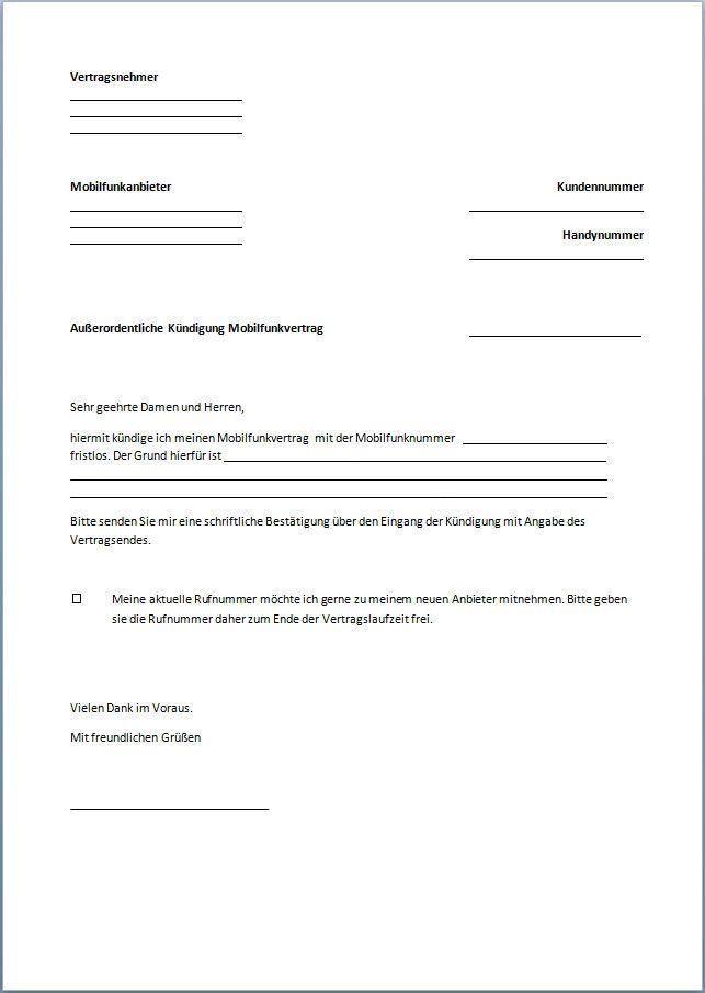 1 1 Kundigen Geprufte Vorlage Kundigungsgarantie 1