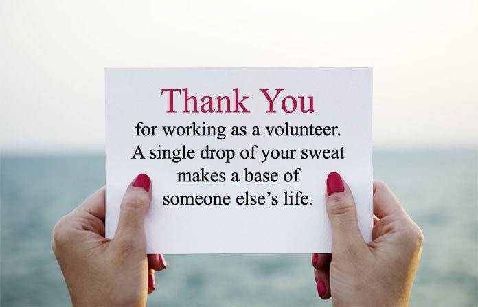Volunteer Thank You Quotes Appreciation Sayings For Volunteering Volunteer Appreciation Quotes Thank You Quotes Thank You Quotes For Helping