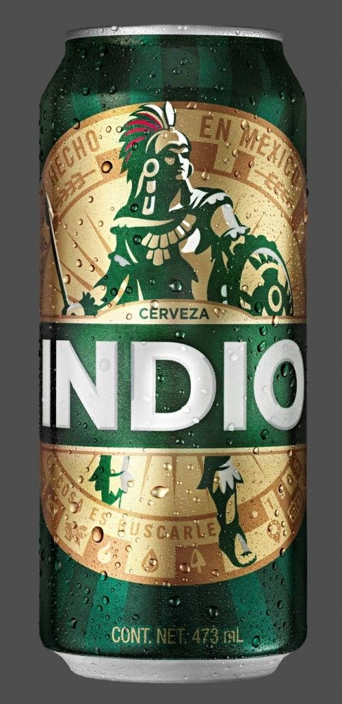 really awesome new branding of Cerveza Indio!