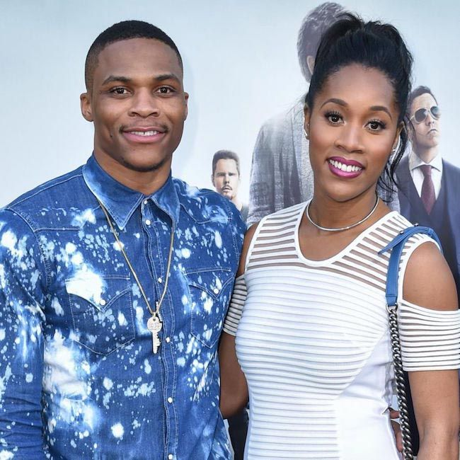 Basketball player, Russell Westbrook with his sweetheart Nina Earl...