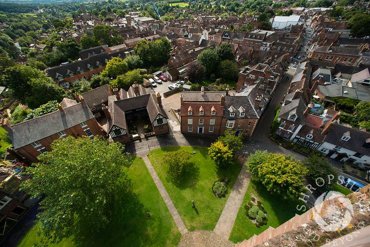 St Leonard's Close seen from the tower of St Leonard's Church, #Bridgnorth, #Shropshire, England.