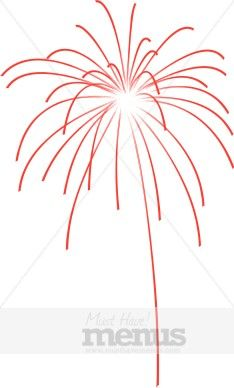 Happy 4th of July Fireworks Clipart