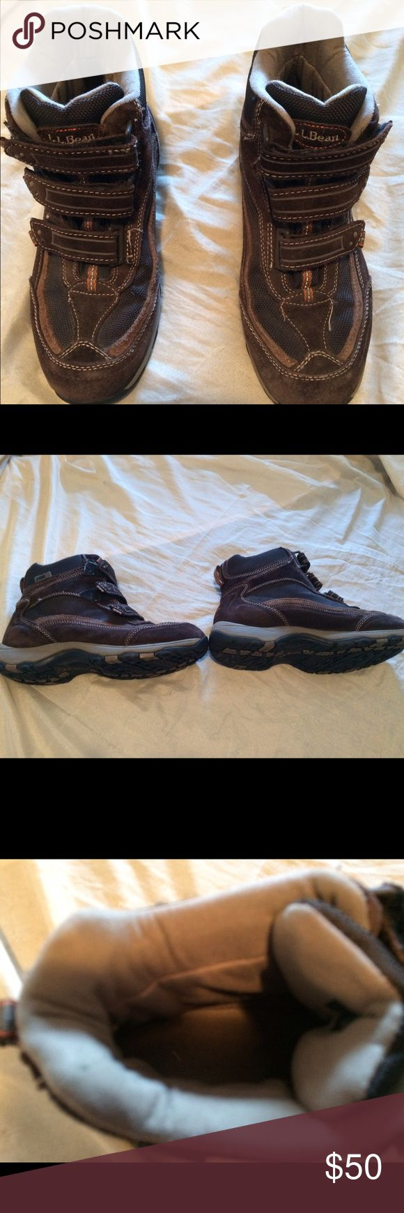 L.L. Bean Men's size 8 1/2 m hiking boots Men's size 8 1/2 Medium. LL Bean hiking boots / sneakers. Brown in color sneaker material. These boots are in good condition with tons of life left in them. L.L. Bean Shoes Boots