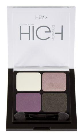 Hean Quatro Eye Shadows with applicator brush Lavender Glamour
