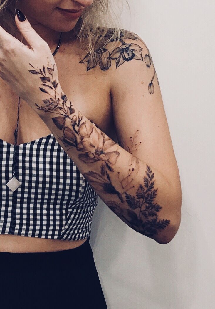 My Flowers Forearm Tattoo Women Hand Tattoos Tattoos