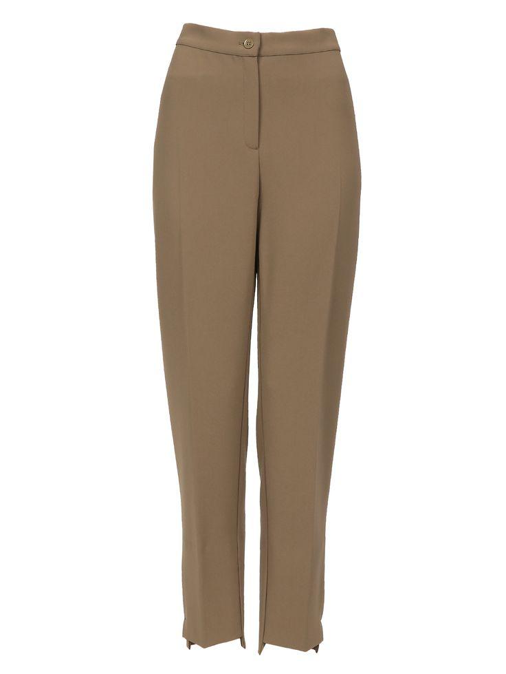 Купить со скидкой Marina Rinaldi болотные прямые брюки со стрелками (135741) – распродажа в Боско Аутлет