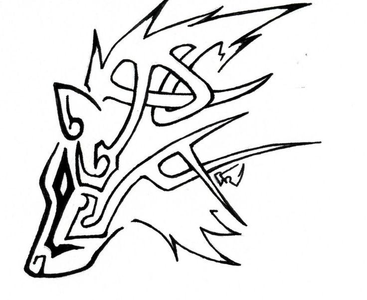 Tribal Celtic Wolf Tattoo