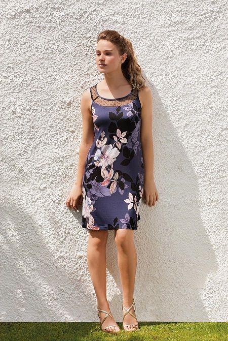 Camisón print floral en punto Egatex