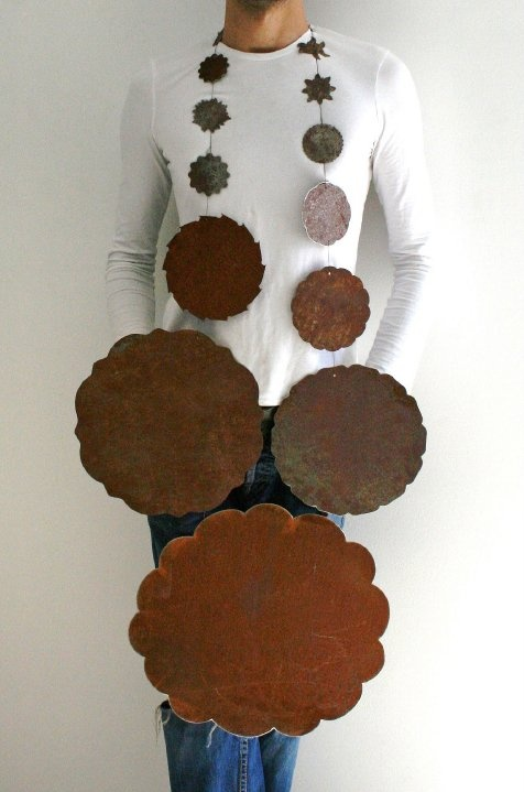 Edgar Mosa - 'Di Indigetes' - rusted steel