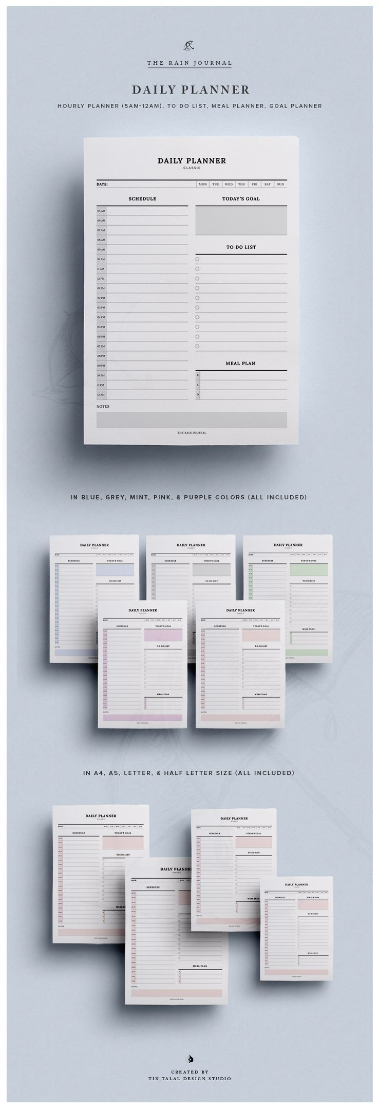 printable hourly day planner