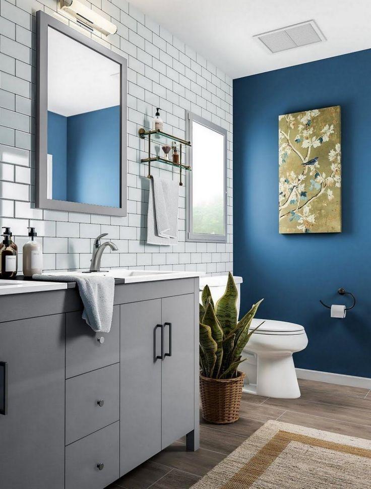 blue gray and white bathroom ideas  small bathroom
