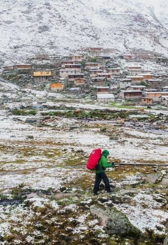 "Michael Matti on Instagram: ""As we were sitting on a porch enjoying some warm tea this guy came down from the mountains, heading to the small village you see behind him. This small village in the mountains is full of people in the summer but then is completely abandoned during winter because of the heavy snowfall. This was during the first snowfall of the season so there were still several hundred people left in the town. Somewhere near Ayder, Turkey. @Turkeyhome #BlackSeaHunt"