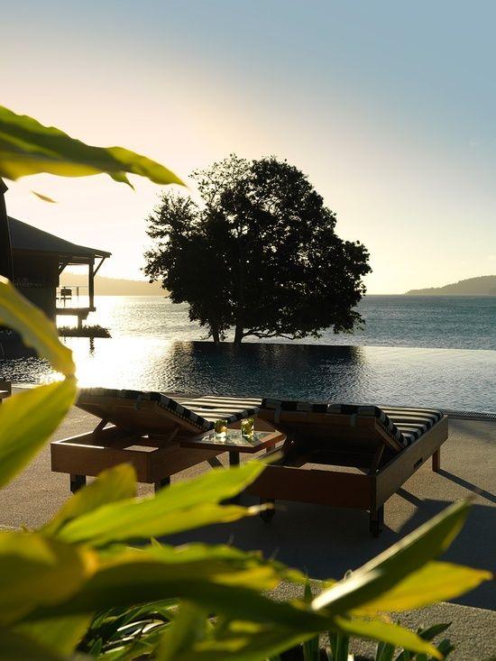 qualia resort australia |  #infinitypool #sun-loungers