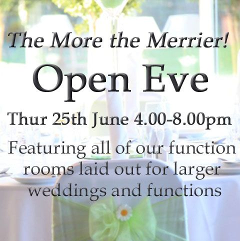 Join us on Thursday 25th June, when the hotel will be dressed in its best with all function rooms open for informal viewings. Our events team will be on hand to show you round and answer any questions you may have or feel free to wander at your leisure.