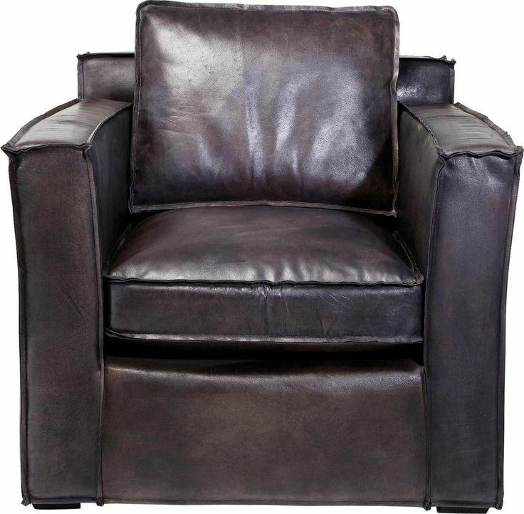 KARE Design Sessel Cube Big Clubsessel in Würfelform aus Büffelleder Braun NEU