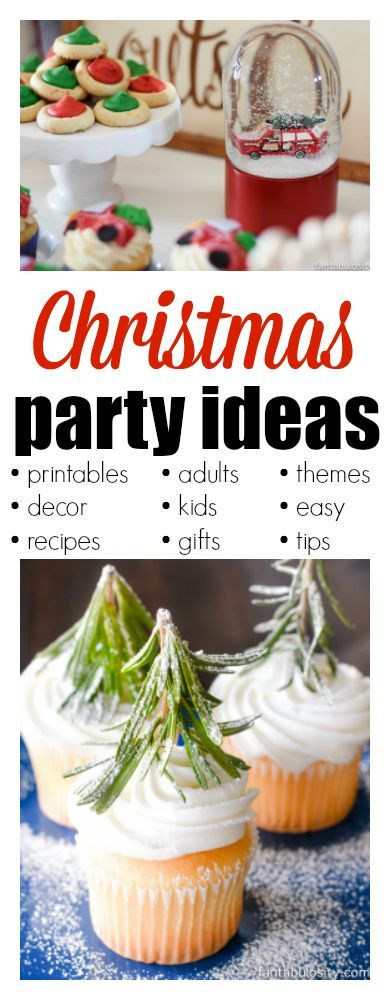 Christmas Party Ideas - for adults, kids, food, games, decorations and so much more!