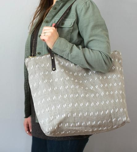 Dash Linen Weekender Tote Bag by Milkhaus Design on Scoutmob Shoppe