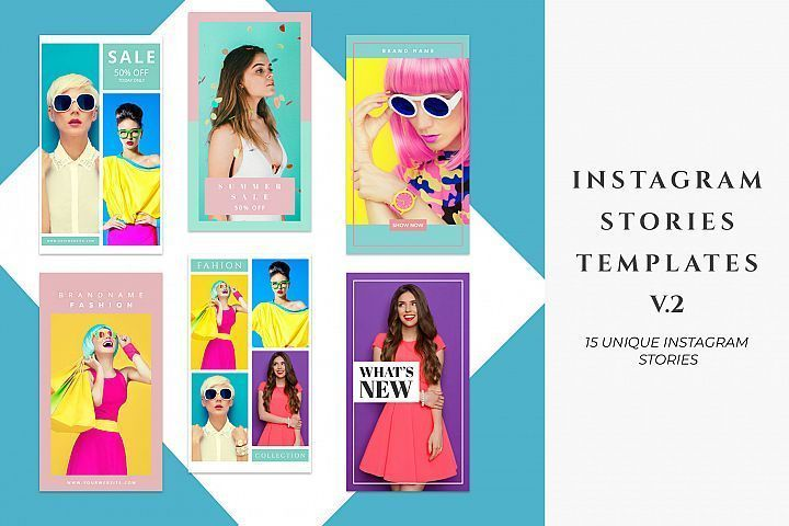 Instagram Stories Templates Pack V.2 – Eine Plattform mit allen Designs