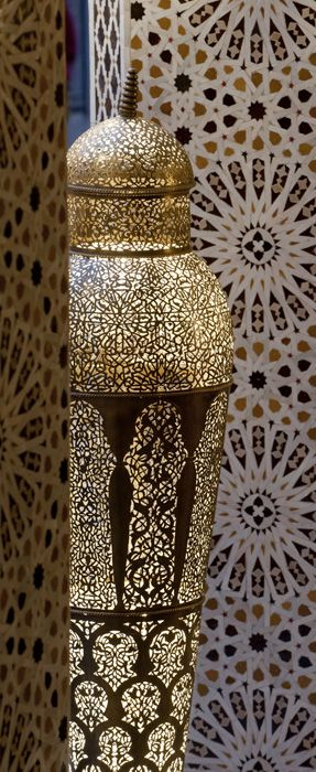 ~Detailing on a famed Yahya lamp from the Royal Mansour Hotel in Marrakech