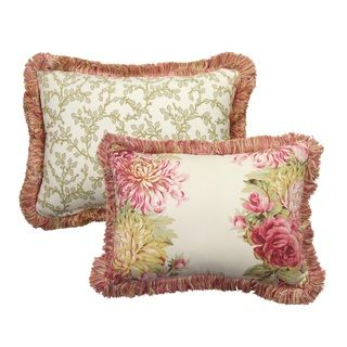 @Overstock - Rose Tree English Romance 11x15 Decorative pillows are reversible with a floral pattern on the front and a leaf vine pattern on the back. They would be the perfect addition to any space.http://www.overstock.com/Home-Garden/Rose-Tree-English-Romance-11x15-Decorative-PIllow/7554703/product.html?CID=214117 $18.49