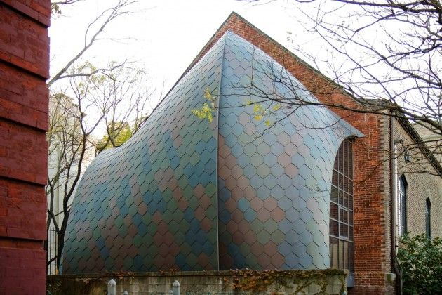 Curved Extension to an Old Church