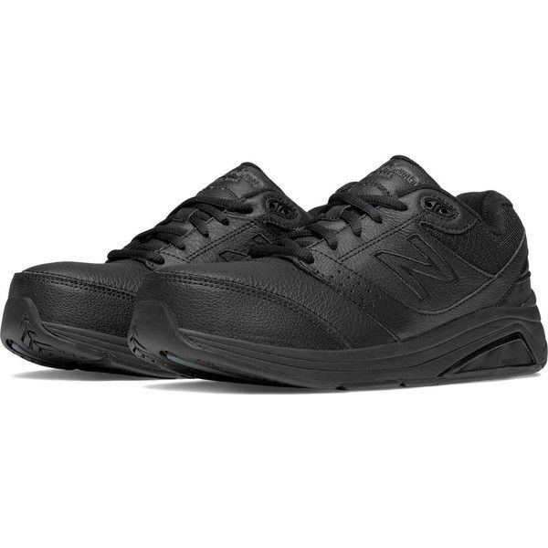 New Balance Women's 928v2 Leather Black Walking Shoes ($120) ❤ liked on Polyvore featuring shoes, athletic shoes, black, leather shoes, black shoes, leather walking shoes, new balance shoes and kohl shoes