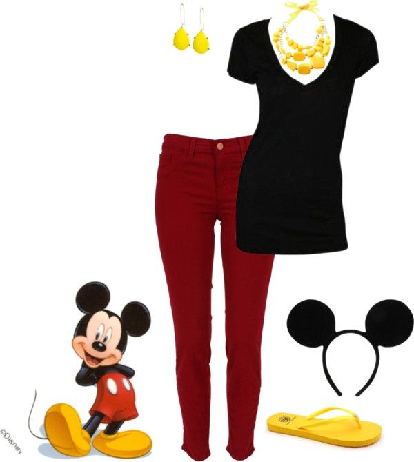 Mickey Mouse Outfit, created by teeg70 on Polyvore