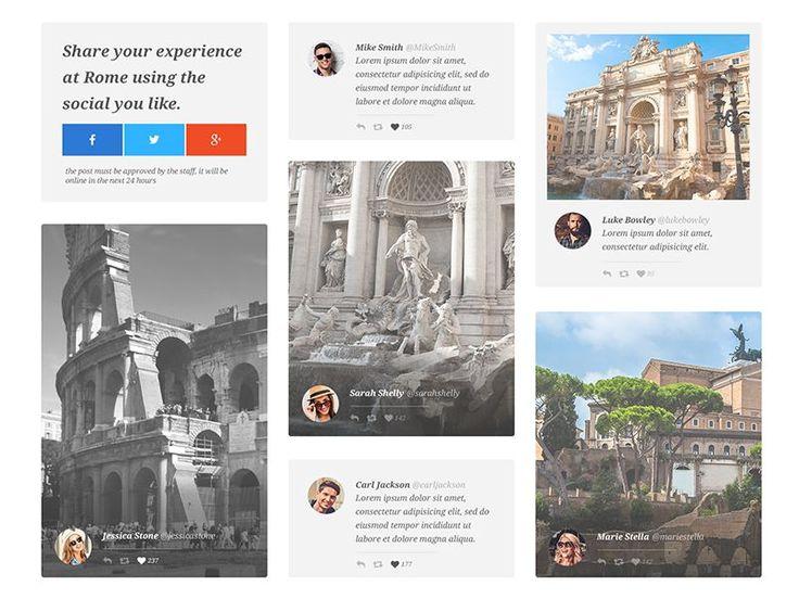 Social Wall UI Design by Emiliano Cicero