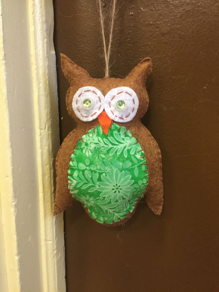 Felt Owl Hand Sewn By Me U Will Find The Free Templates