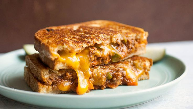 Two delightfully messy sandwich faves combined into one all-out-delicious sandwich! We start with a simple, easy homemade sloppy Joes recipe, and take it to the next level with—what else?—cheese.