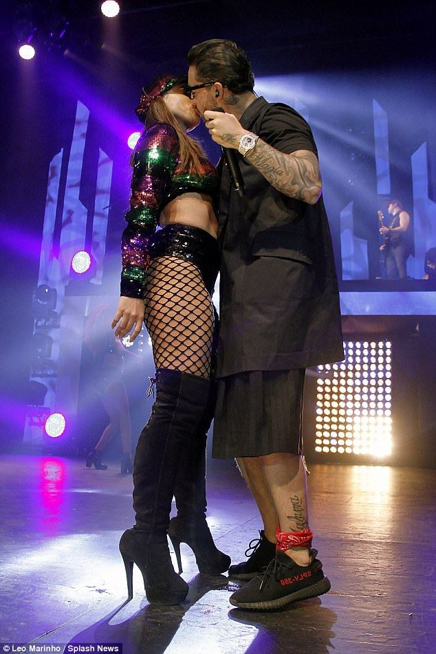 Many suitors: Brazilian superstar singer Anitta has been spotted hanging out with Kylie Jenner's ex-boyfriend Tyga in Los Angeles but on May 2 she stared an onstage kiss with Maluma in Rio de Janeiro, Brazil