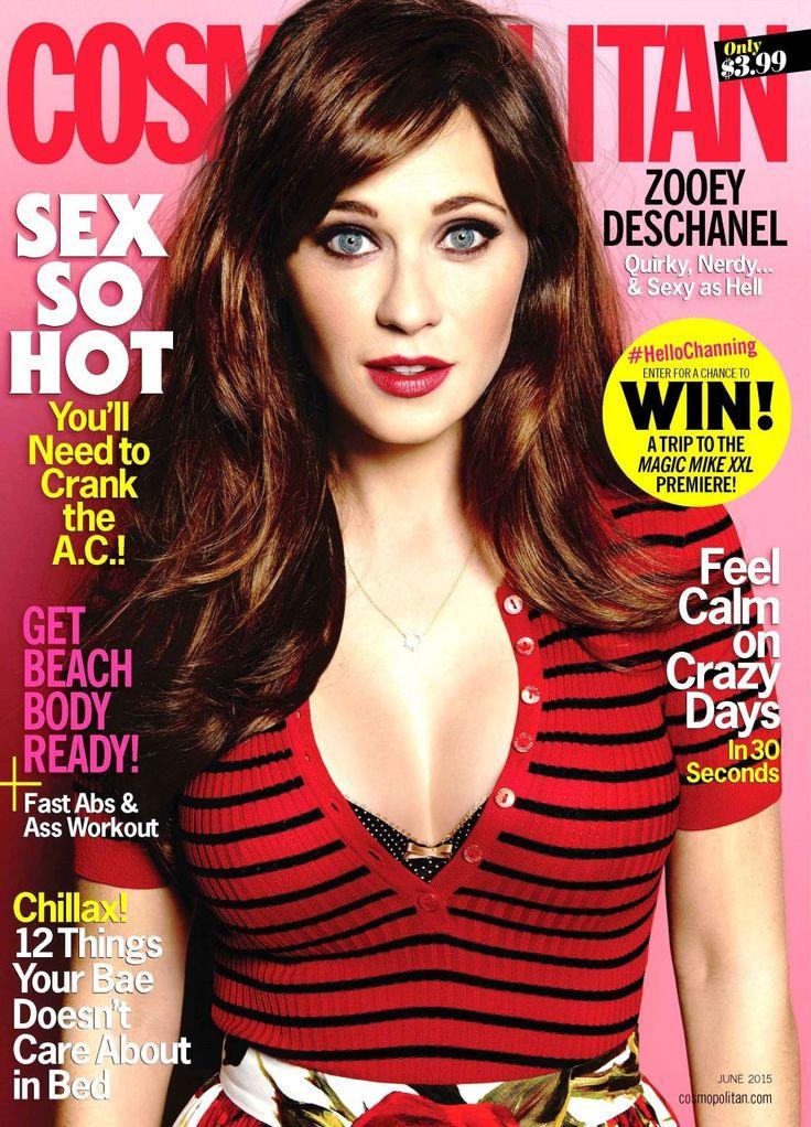 Zooey Deschanel on Body Image - Zooey Deschanel Cosmopolitan June 2015