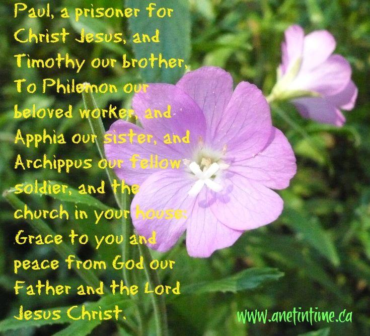 Pauls greeting in philemon grace to you greetings