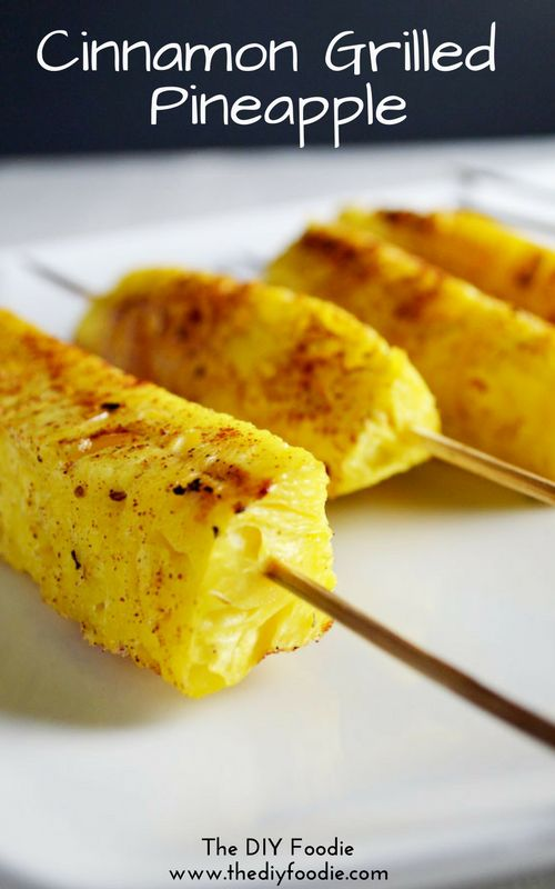 2 INGREDIENT Grilled Pineapple! Healthy side dish for summer.