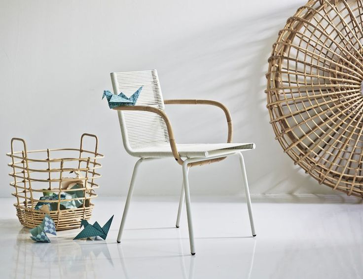 White SIDD Armchair by Foersom & Hiort-Lorenzen for Cane-line
