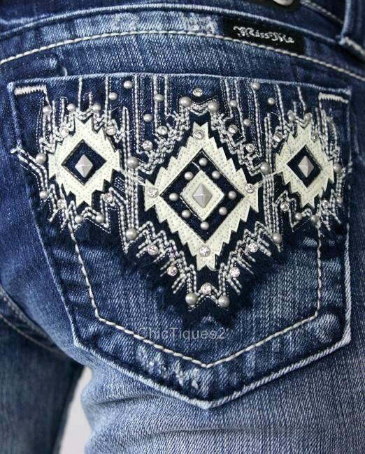 Miss Me Jeans Santa Fe Diamond Crystal Stud Denim Boot Cut JW5416B Sz 25-31 OMG WANT!!!