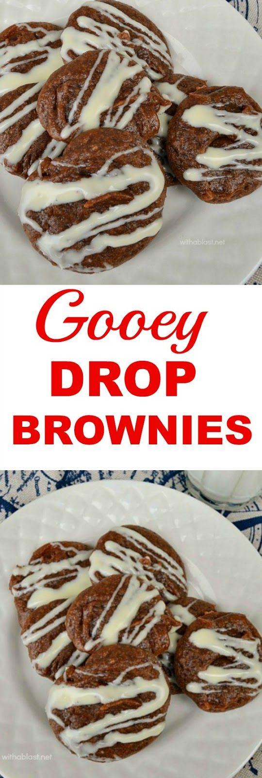Chewiest Brownie cookies ever with only 4 Ingredients ! Drop & bake