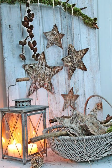 VIBEKE DESIGN, i think this would be the beginning of a very happy holiday design for your coastal home.  using the wooden stars and the white washed wicker, its a great place to start. walking on sunshine:-)