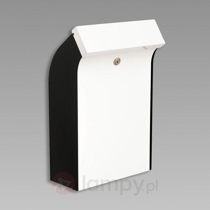 Skrzynka pocztowa Bent o innow. kształcie, cz.-b. bezpieczne & wygodne zakupy w sklepie internetowym Lampy.pl.