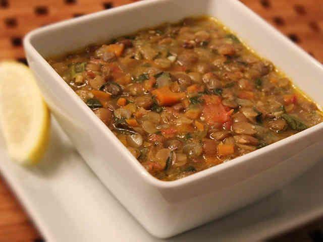 レンズ豆のスープ(ヴィーガン)